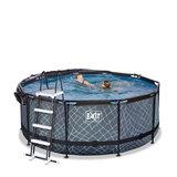 360x122 cm zwembad grijs