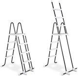 Ø360x122 cm zwembadtrap trap ladder